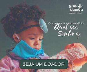 Banner campanha Grão da Vida na Calhau Social